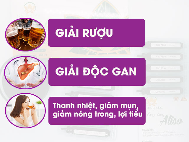 Công dụng của Ống Uống Actiso