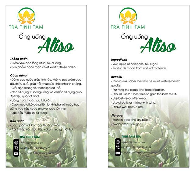Toa hướng dẫn sử dụng Ống Uống Actiso